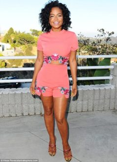 Steal-Christina-Milian-PLT-x-USA-Launch-Charis-Coral-Floral-Embroidered-crop-top-and-shorts-1-433x600